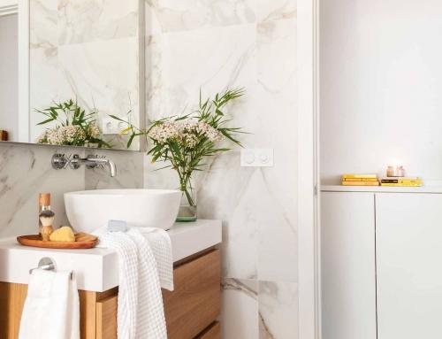 Baños pequeños y confortables